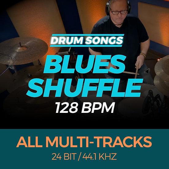 DRUM SONGS Blues Shuffle 128bpm MULTI-TRACK WAVS