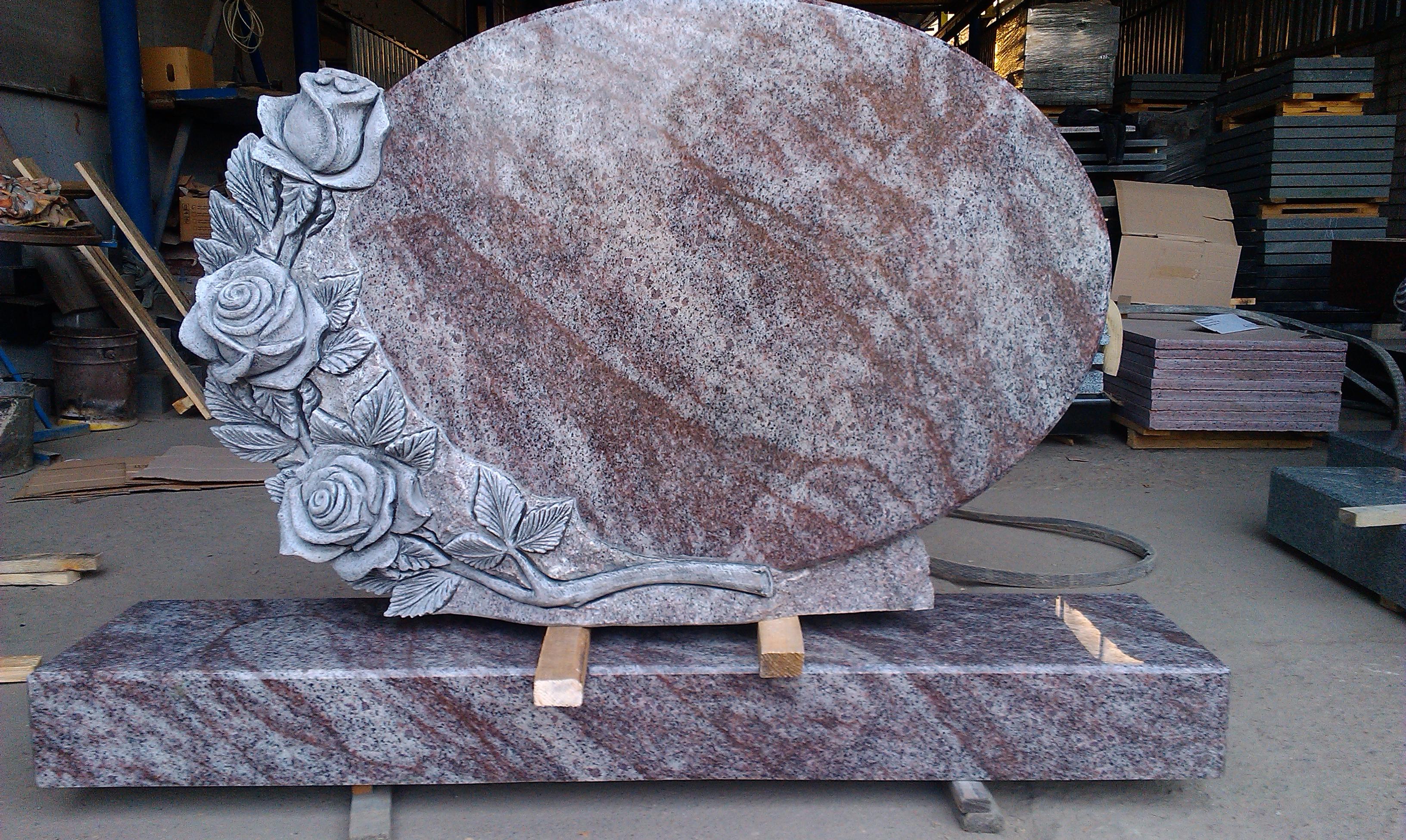 Granite roses. Grai/pink granite.