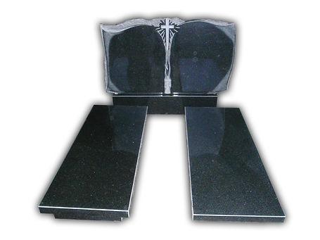 Подвійний пам'ятник з надгробками
