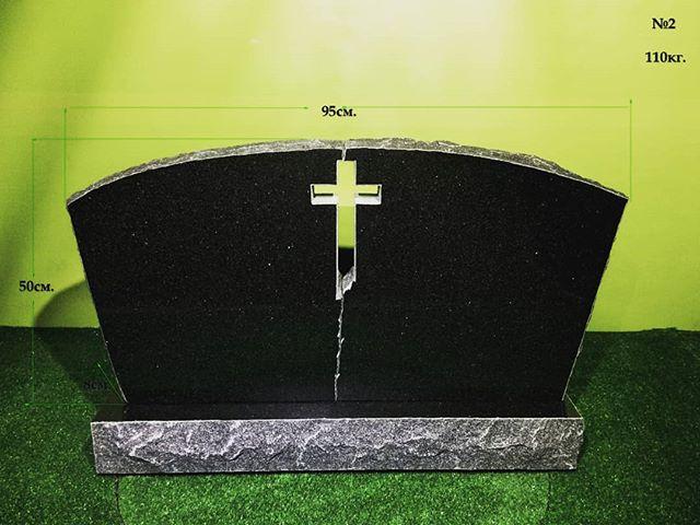 Cemetery monument. Black granite. . .