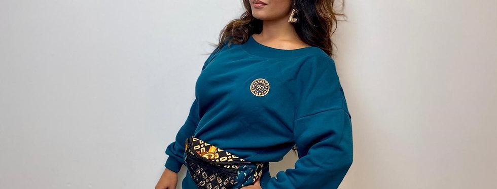 T-Shirt dress indo 49 hawaiien blue