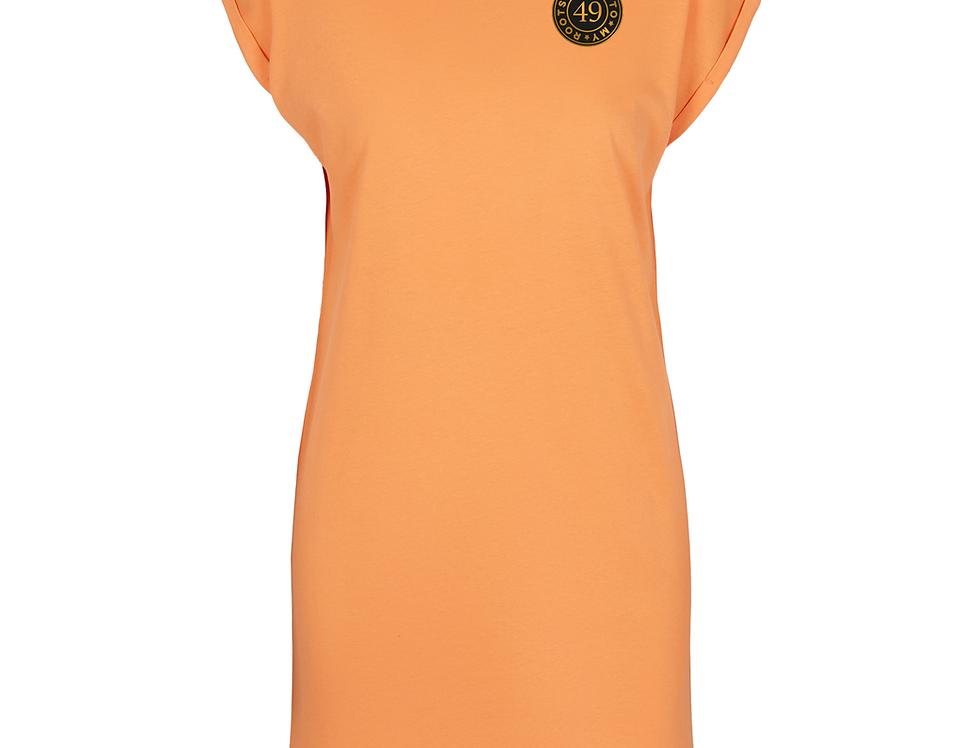 T-Shirt dress indo 49 peach