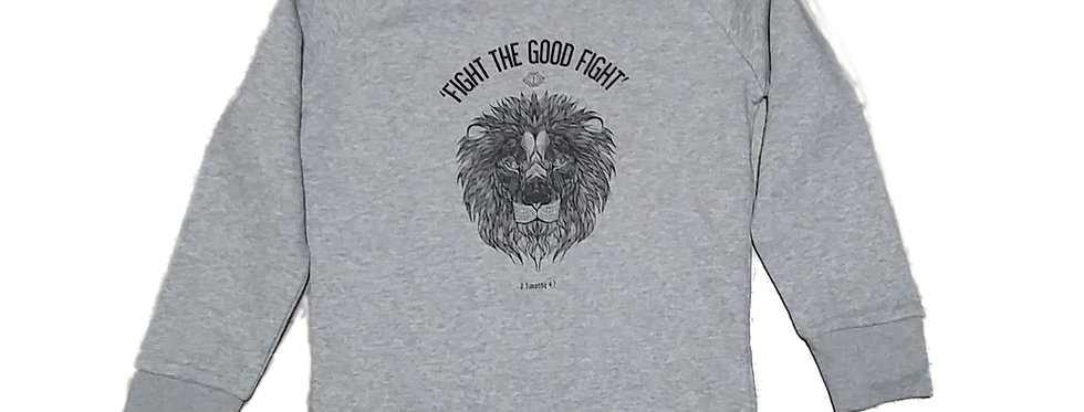 FIGHT THE GOOD FIGHT SWEATER GREY