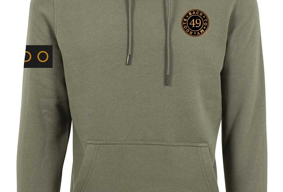 BACK TO MY ROOT 49 HOODIE OLIVE
