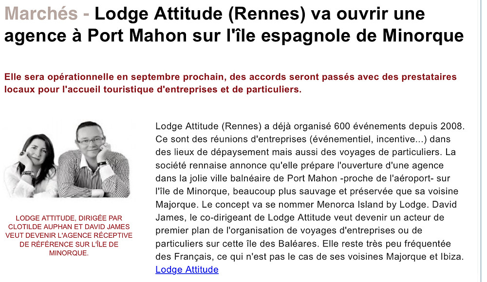 Menorca Island by Lodge Attitude | Voyage et événement sur mesure | Agence DMC à Minorque
