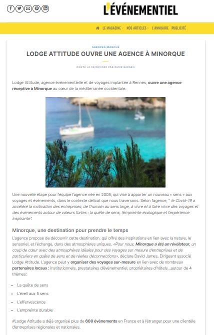 Menorca Island by Lodge Attitude | Voyage et événement sur mesure | Agence réceptive à Minorque