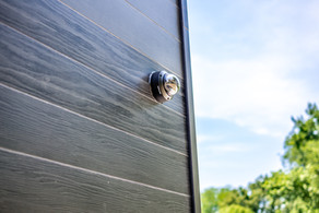Exterior cameras monitor drive, entrances and rooftop