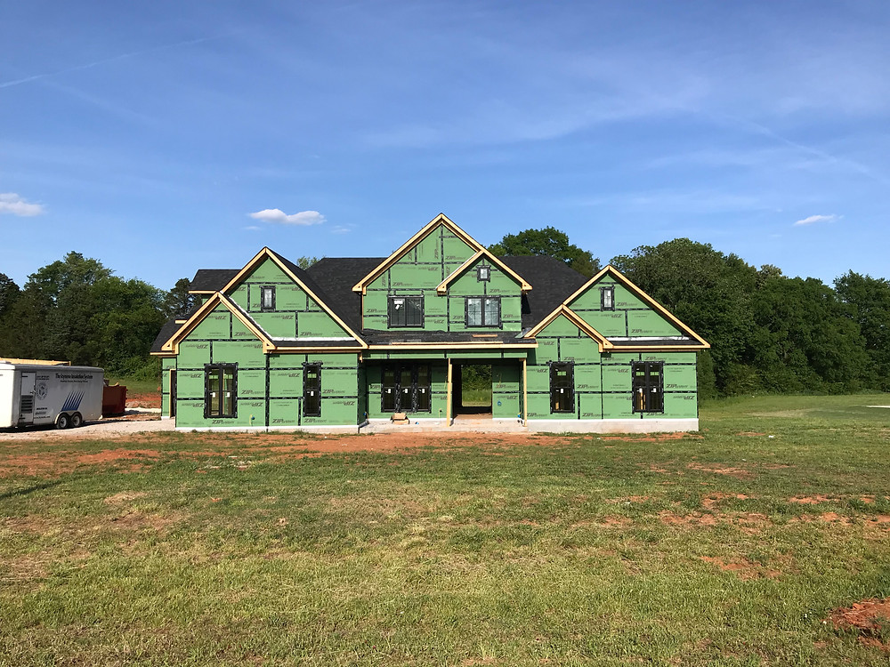 Zip System sheathing to protect this custom home in St. Florian, AL
