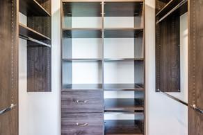Custom master closet storage