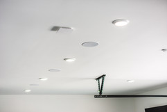 In-ceiling speakers located throughout the home