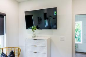 HDTV in guest bedroom