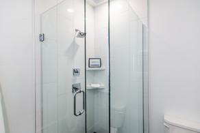 Custom tile shower in master bathroom
