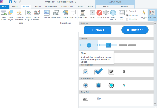 eLearning Storyline Toolbar