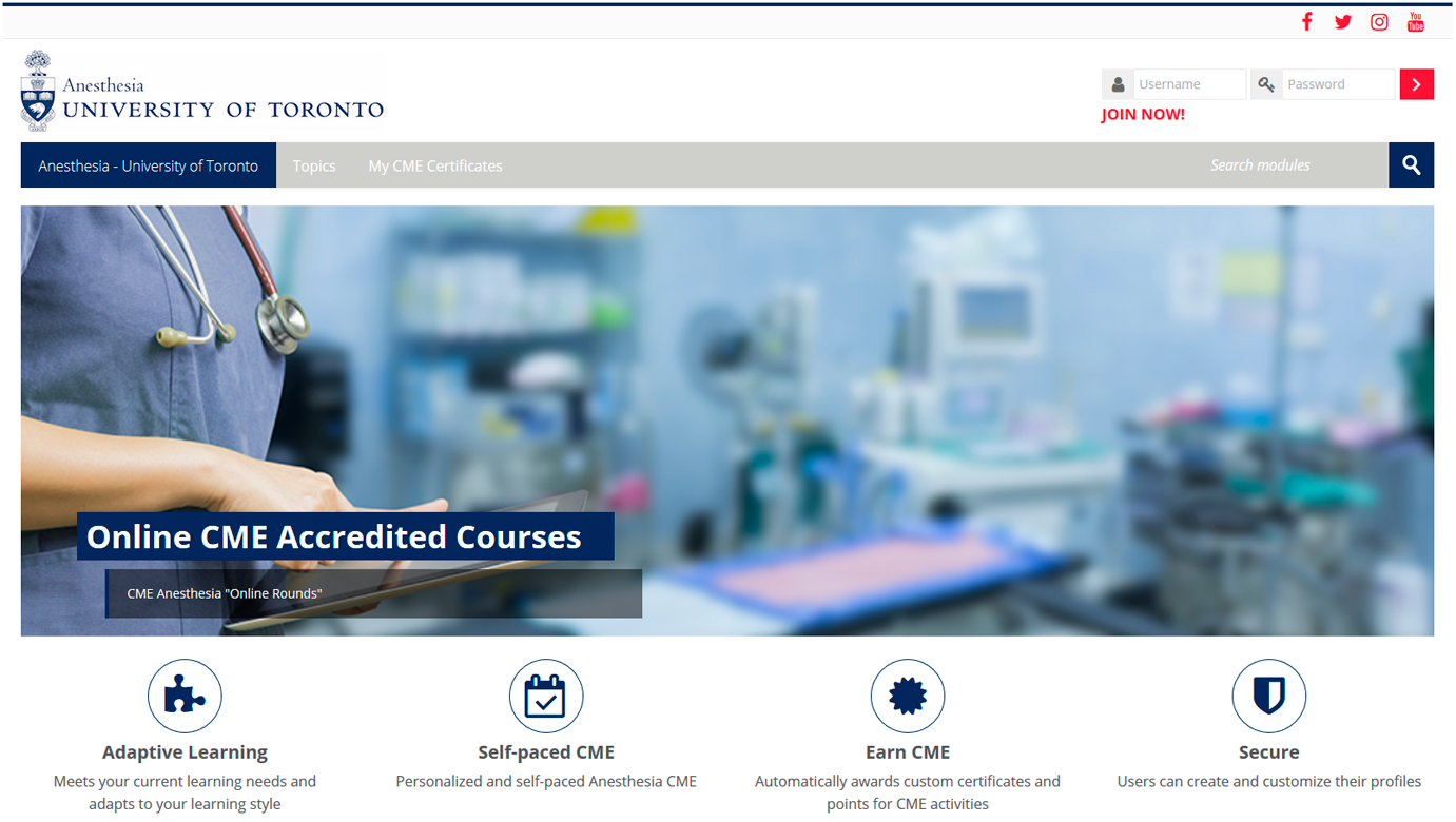 UofT Anesthesia Learning Portal