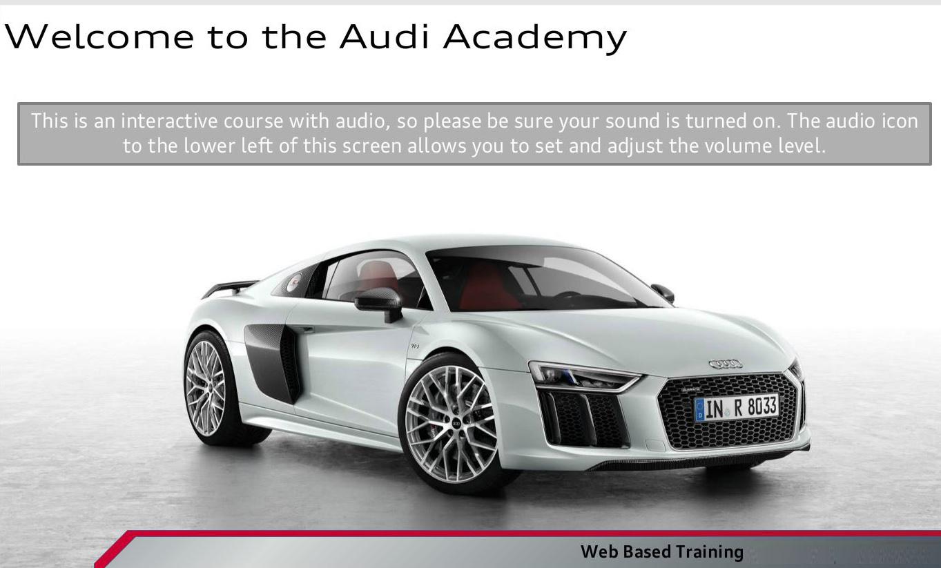 Audi Academy elearning
