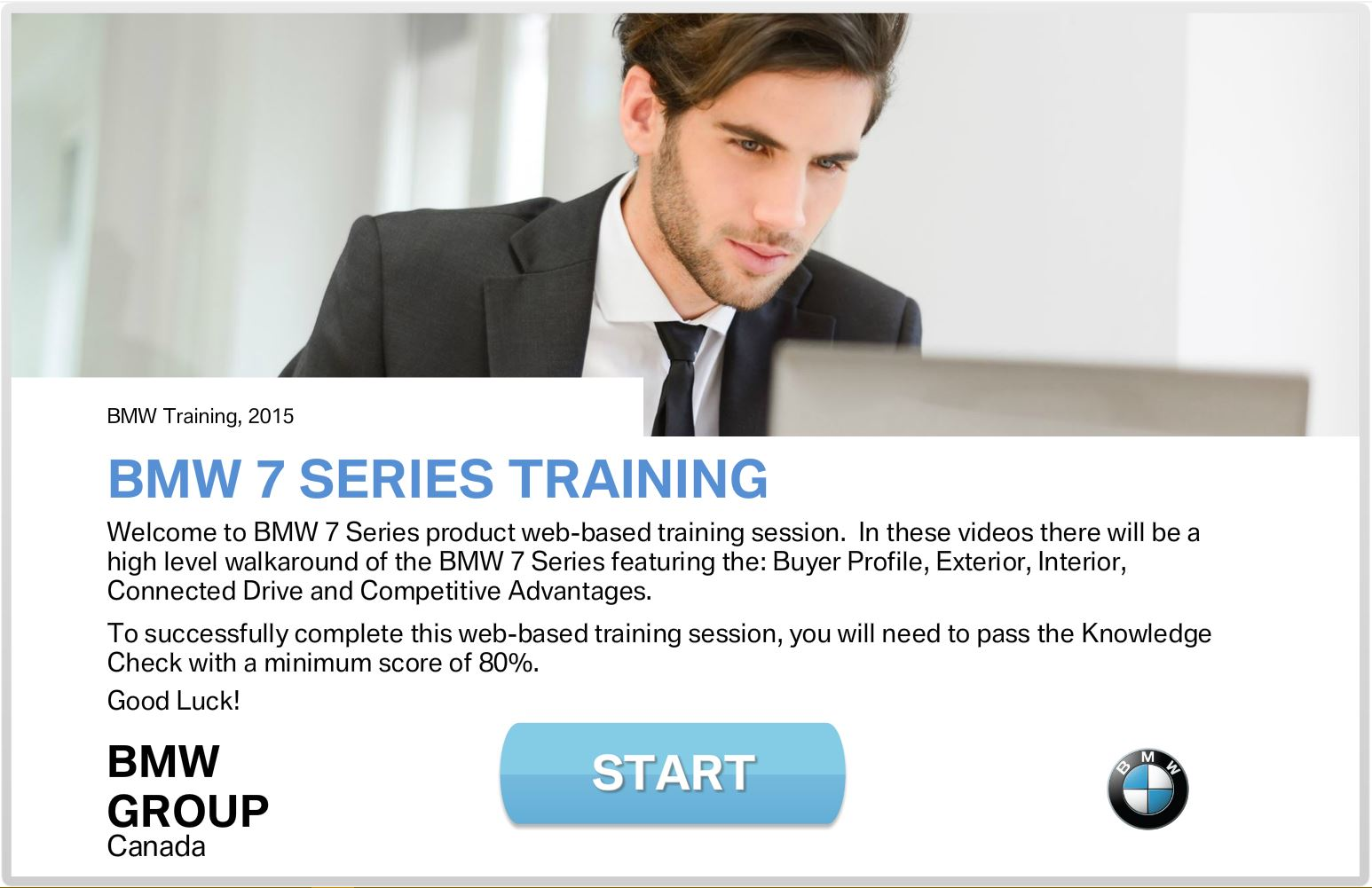 BMW 7 Series Training