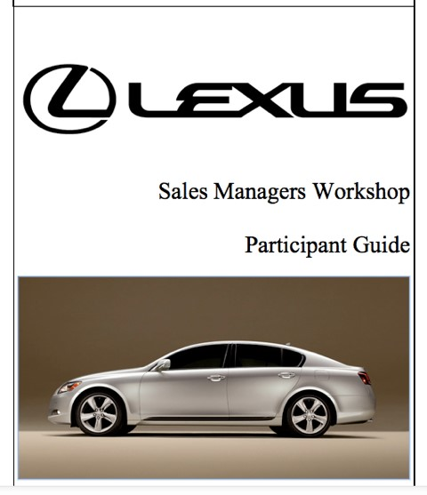 Lexus Sales Managers Workshop