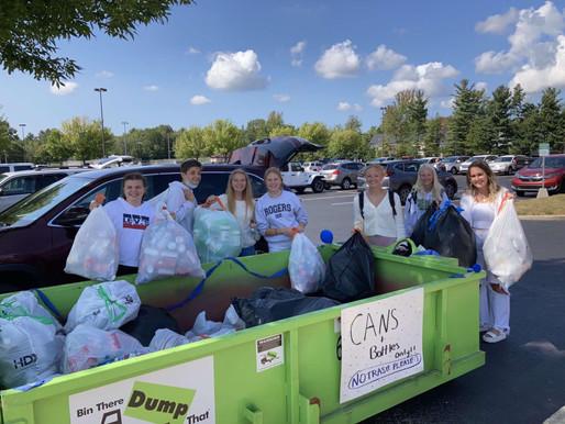 Interact Raises $1,300 for Helen Devos Children's Hospital Through Can Drive