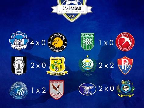 Final de semana com 5 vitórias e 1 empate pelo campeonato candango de futebol.