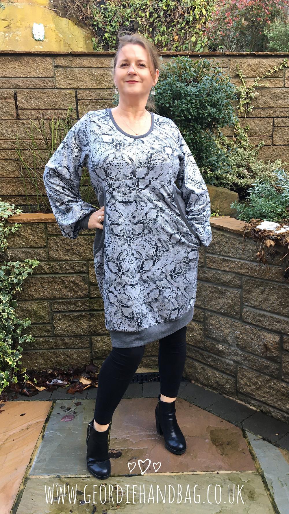 Cuddle Tunic Dress Pdf Pattern Review Ellie and Mac