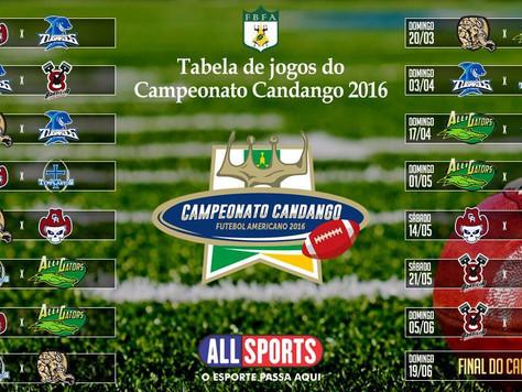 Campeonato Candango de Futebol Americano a vista.