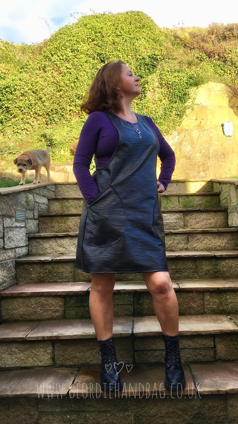 Faux Leather York Pinafore Pdf Pattern by Helens Closet