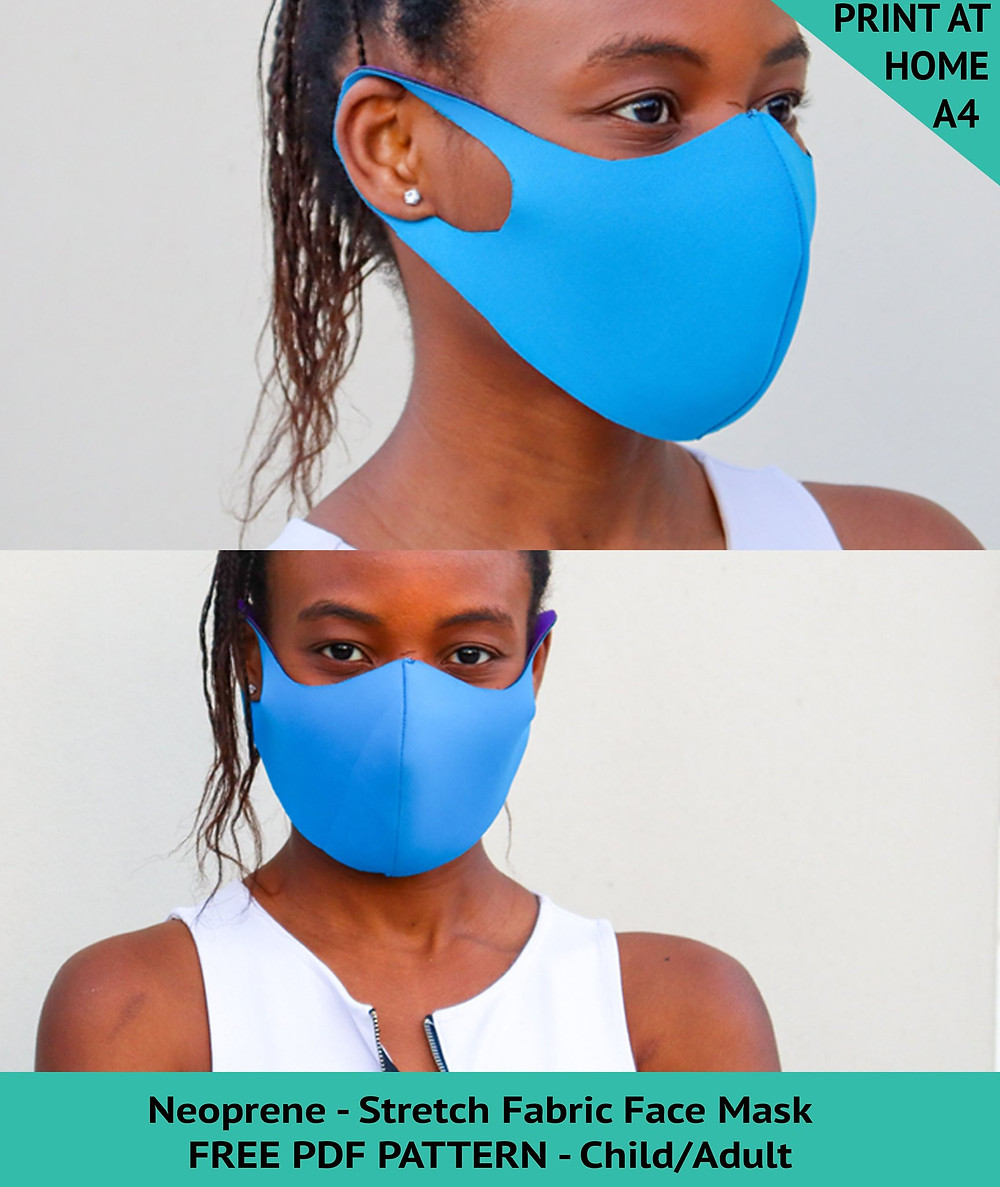 easy diy neoprene face mask