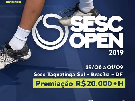 Sesc Open de Tênis começa hoje em Brasília