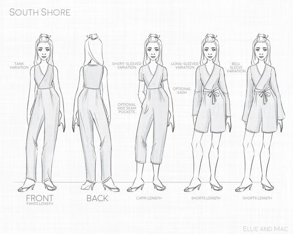 South Shore Romper Pdf Pattern Review Ellie & Mac