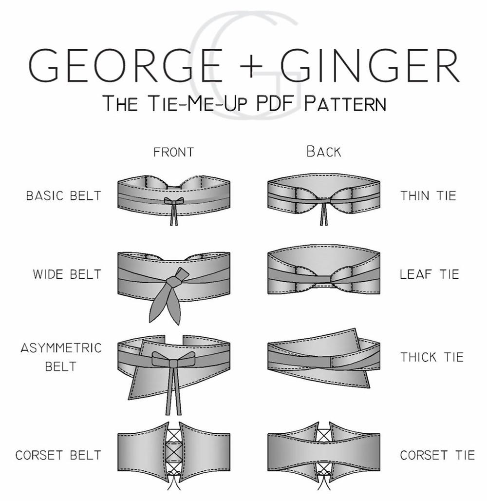 The Tie Me Up Belt Pdf Pattern George + Ginger Patterns