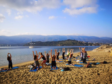 Yoga op het eiland Poros