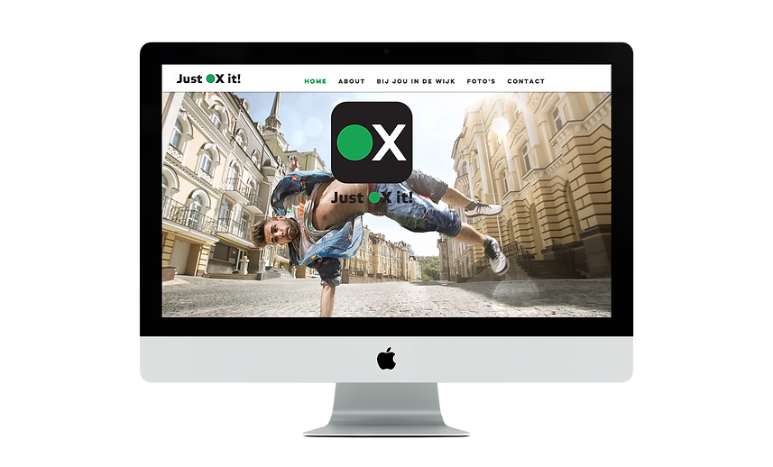 webdesign | Bloomcool design for Just Ox it!