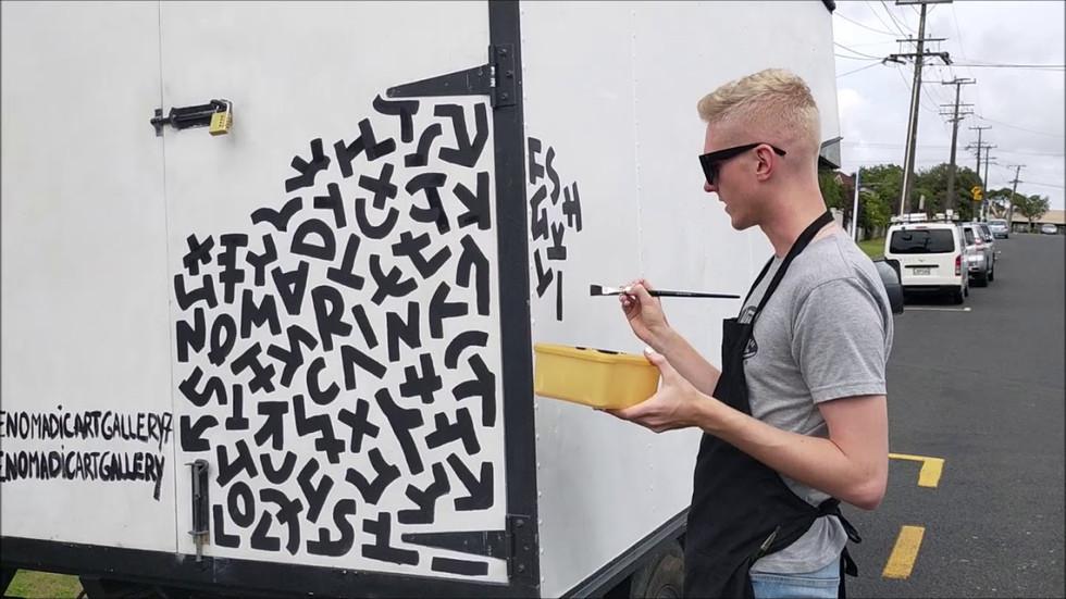 Artist Oliver Cain - Auckland