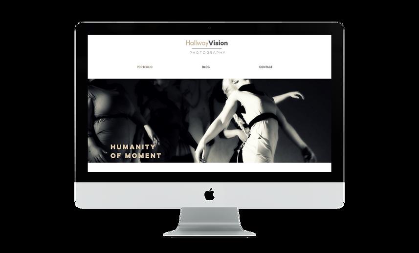 Web design | Bloomcool design for Hallway Vision Photography