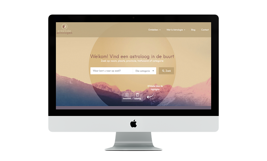 Web design | Bloomcool design for Erkende Astrologen