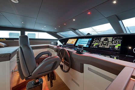 electric yacht dashboard