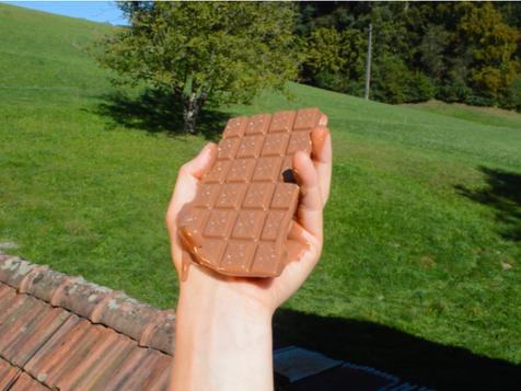 Rafael Lippuner, Holding a bar of chocolate (2020)