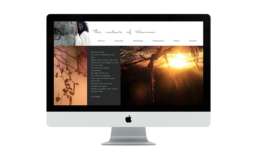 This is a BloomCool website for The Nature of Woman