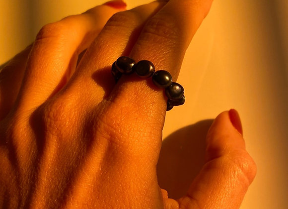 Anel Pérola Negra - BLACK PEARL Ring
