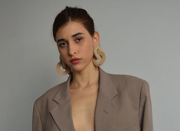 Brinco 'ELO' nude - nude 'ELO' Earrings