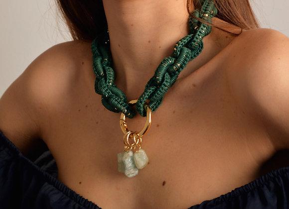 Colar 'TRAMA' oliva - 'TRAMA' oliva necklace