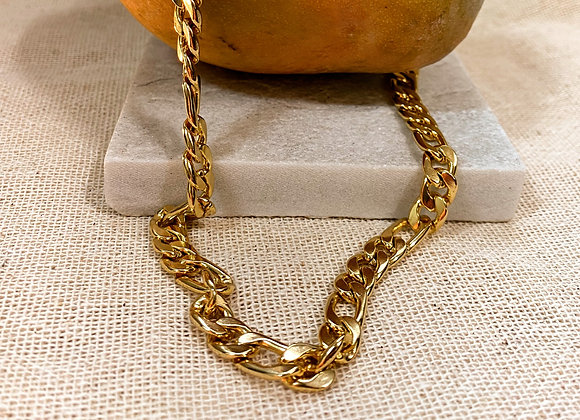 Colar Playa, corrente banhanda 18k - Playa Necklace, gold plated