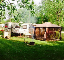 modern tent sites away from the rvs