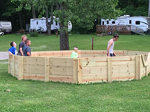gaga ball is fun to play while camping