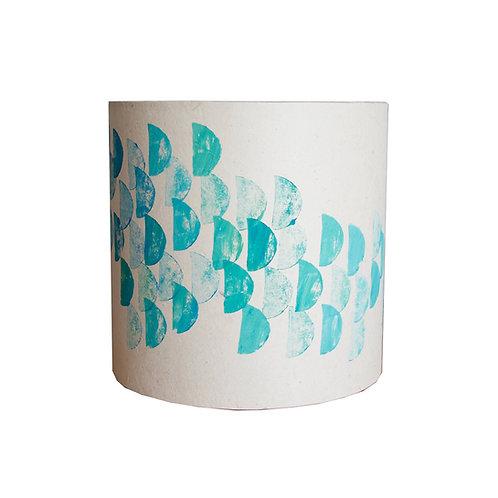 Handmade Lampshade - Blue Sea Pattern