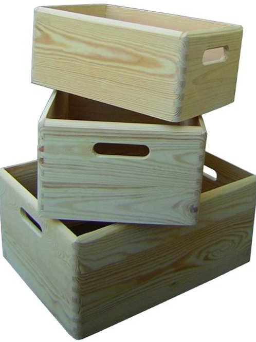 Cassette legno blinky garden petunia set 3 pezzi.