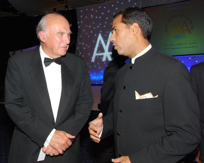 Alpesh Patel speaking to Vince Cable MP about technology entrepreneurship and civic duty