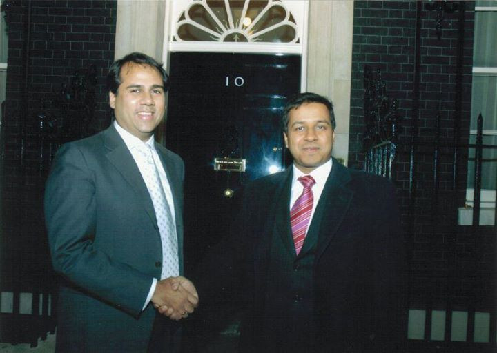 Alpesh Patel at Downing Street