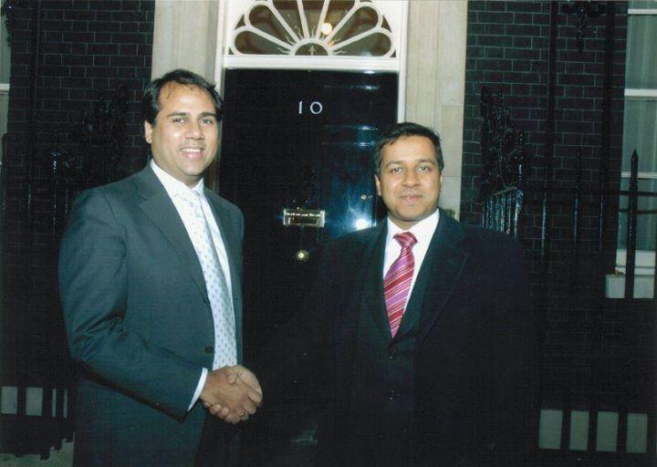 Alpesh Patel at Downing Street