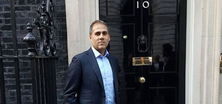 Alpesh Patel at 10 Downing Street